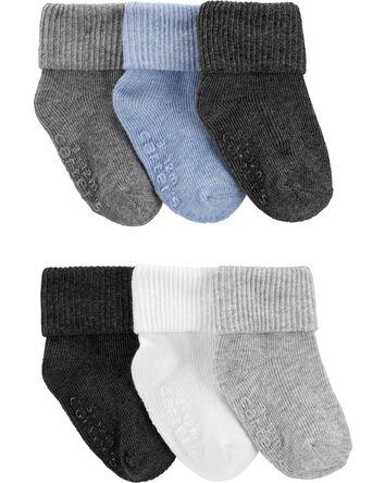 6 paires de chaussettes à revers ro...