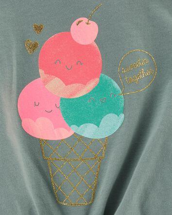 T-shirt en jersey cornet de crème g...