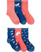 Emballage de 6 paires de chaussettes à licorne, , hi-res