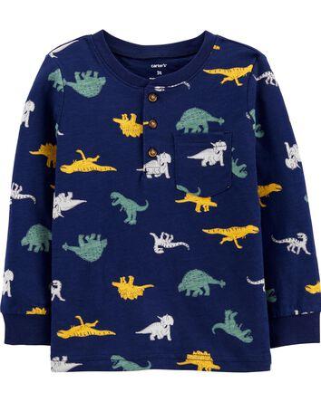 Haut henley à dinosaure