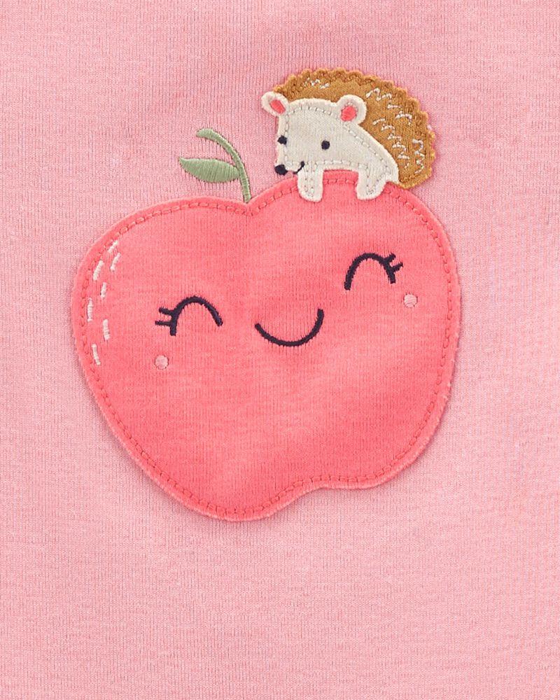 Pyjama 4 pièces en coton ajusté pomme, , hi-res