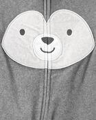 1-Piece Husky Fleece Footie PJs, , hi-res