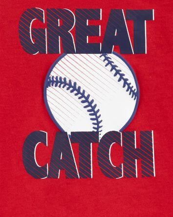 2-Piece Baseball Jersey Tee & Frenc...