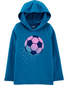 Hooded Soccer Jersey Tee, , hi-res