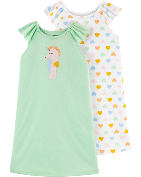 2-Pack Flamingo Nightgowns