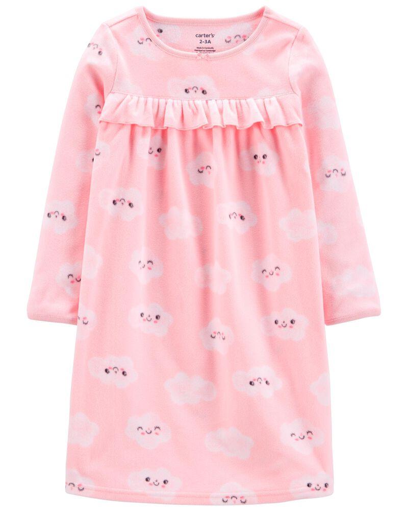 Clouds Fleece Nightgown, , hi-res