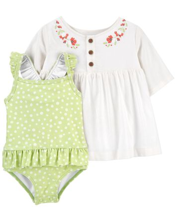 2-Piece Cover-Up & Swimsuit Set