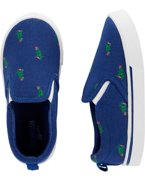 Chaussures à enfiler à dinosaures