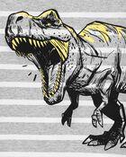 T-shirt en jersey rayé à dinosaure, , hi-res