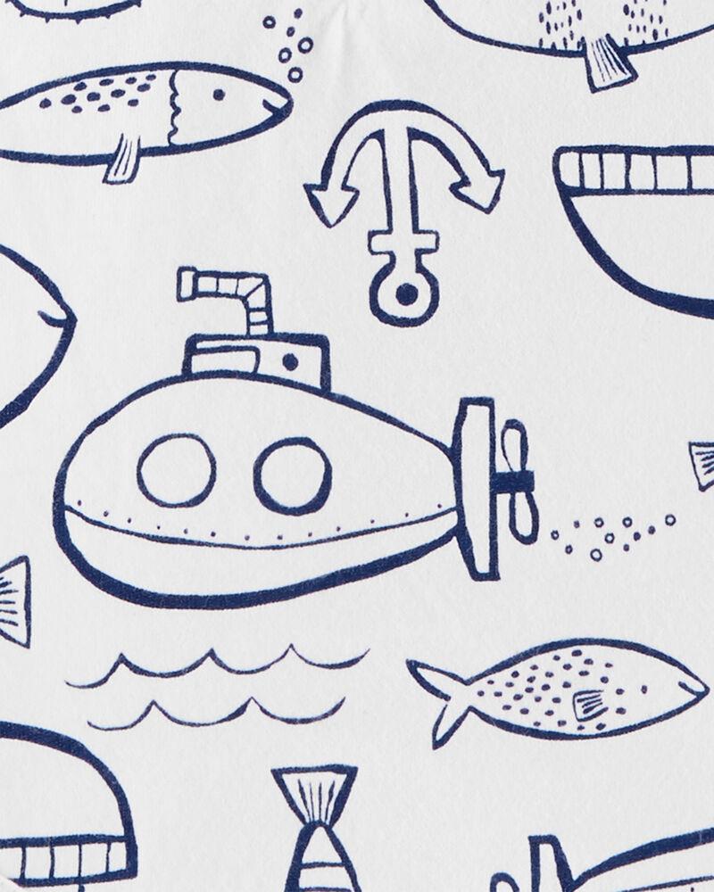 3-Pack Fish Bodysuits, , hi-res