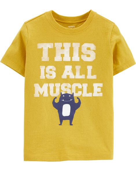 T-shirt en jersey Muscle Monster