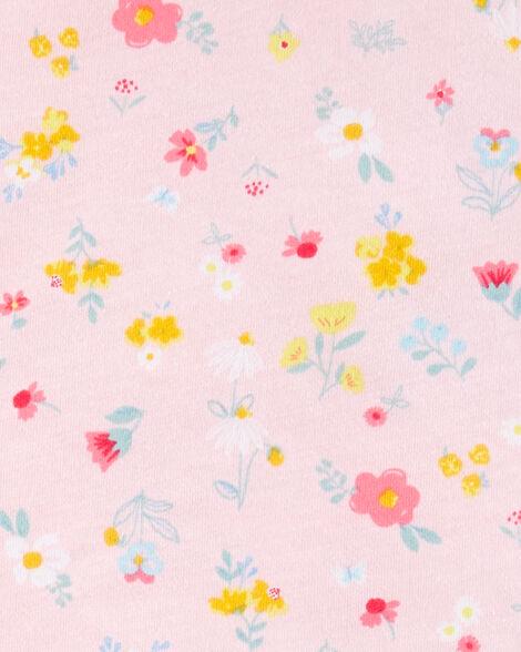 2-Piece Floral Jersey Top & Capri Legging Set