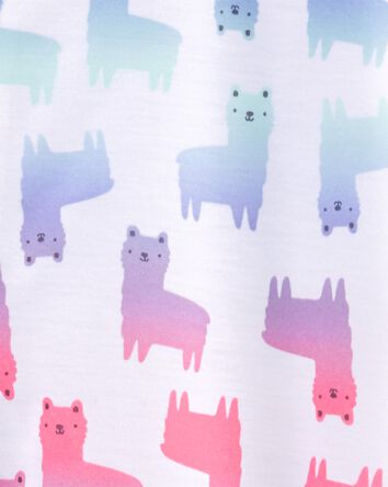 1-Piece Llama Loose Fit Footie PJs