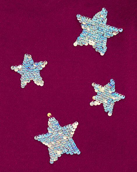Robe en jersey à étoile scintillante