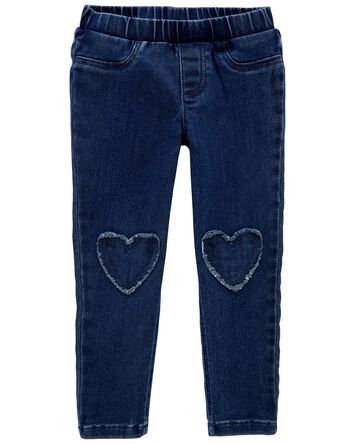 Heart Patch Pull-On Jeggings