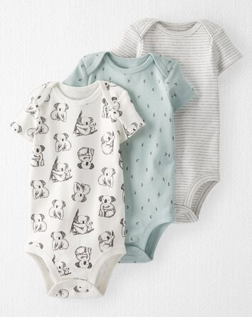 3-Pack Organic Cotton Rib Bodysuits