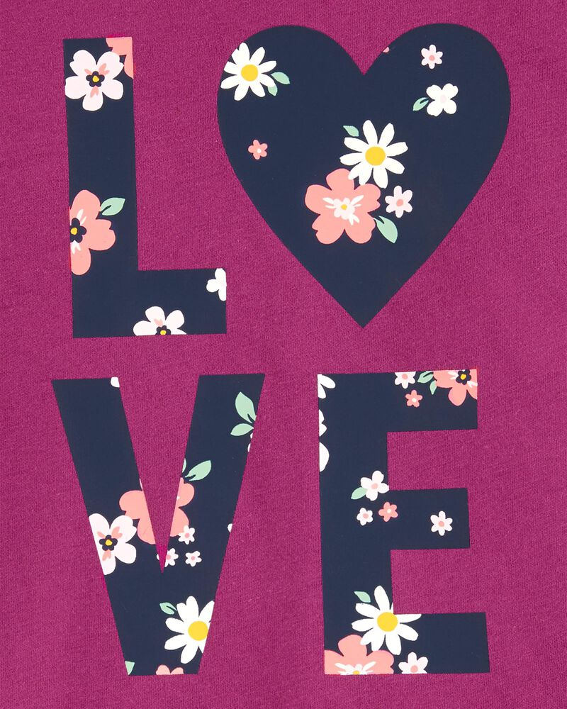 T-shirt en jersey Love, , hi-res