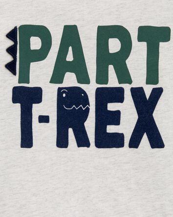 T-shirt à imprimé tyrannosaure