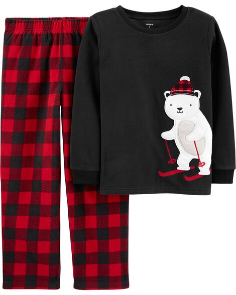 2-Piece Polar Bear Fleece PJs