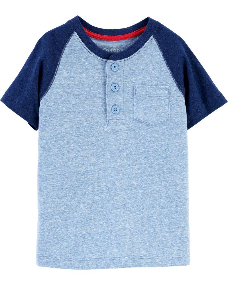 T-shirt à poche de poitrine de couleur contrastée, , hi-res