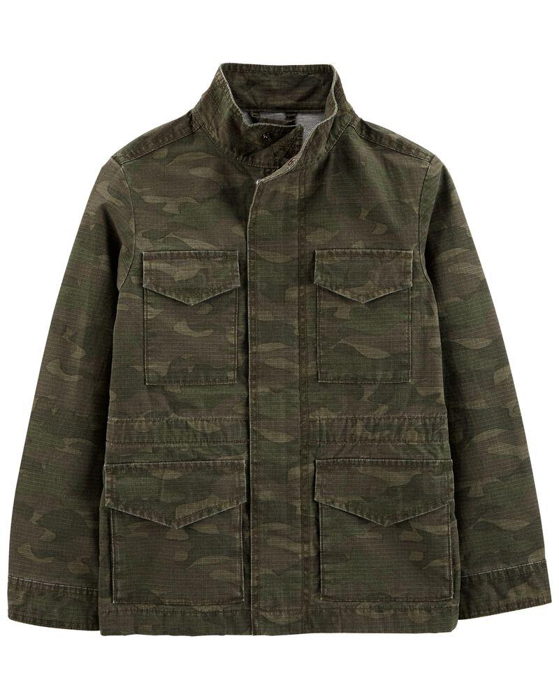 Veste de randonnée à motif camouflage, , hi-res