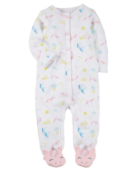 Snap-Up Unicorn Cotton Sleeper