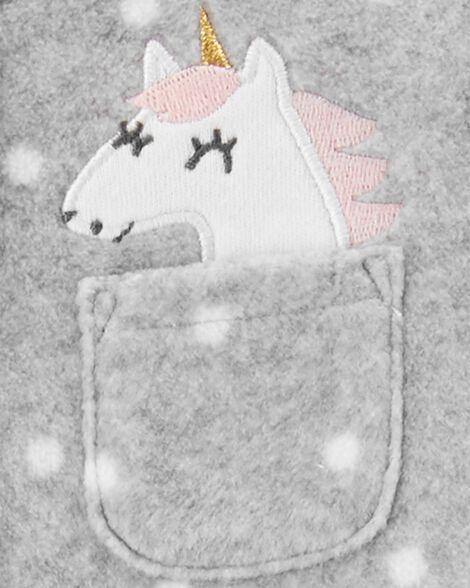 Unicorn Snap-Up Fleece Sleep & Play