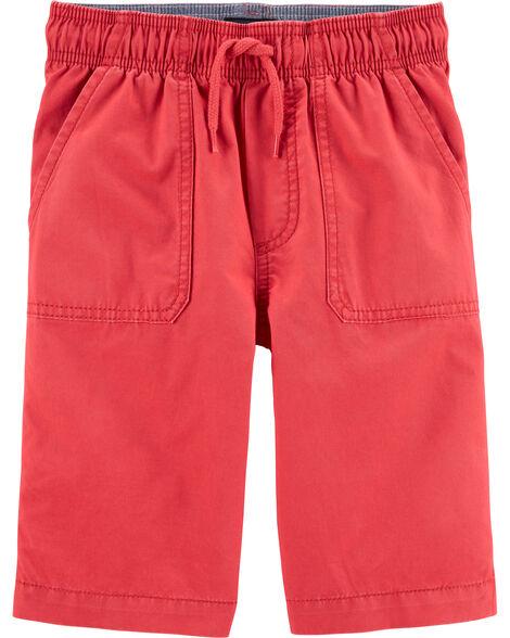 Pull-On Twill Shorts