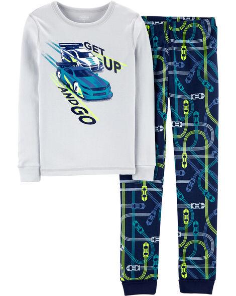 Pyjama 2 pièces en coton ajusté voiture de course