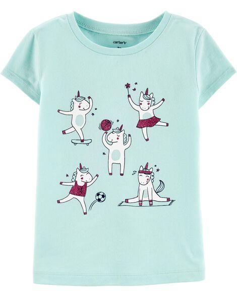 T-shirt de sport en jersey avec licornes