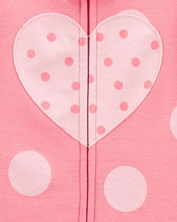 1-Piece Heart 100% Snug Fit Cotton...