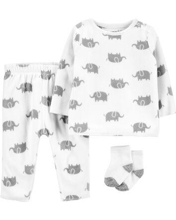3-Piece Fleece Outfit Set