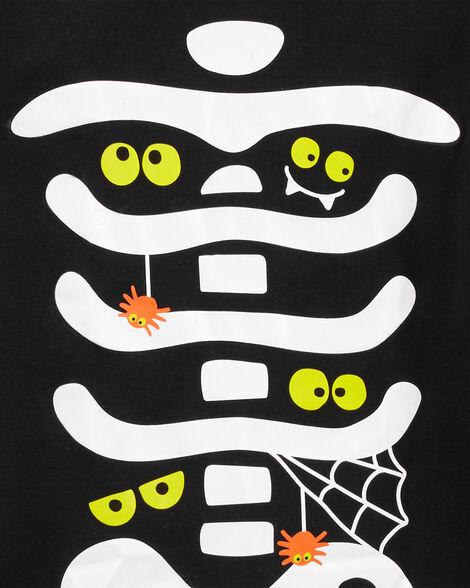 2-Piece Adult Halloween Skeleton Snug Fit Cotton PJs