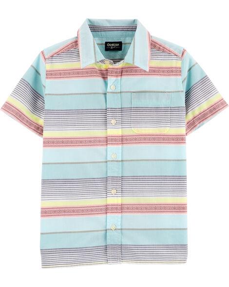 Chemise boutonnée à rayures