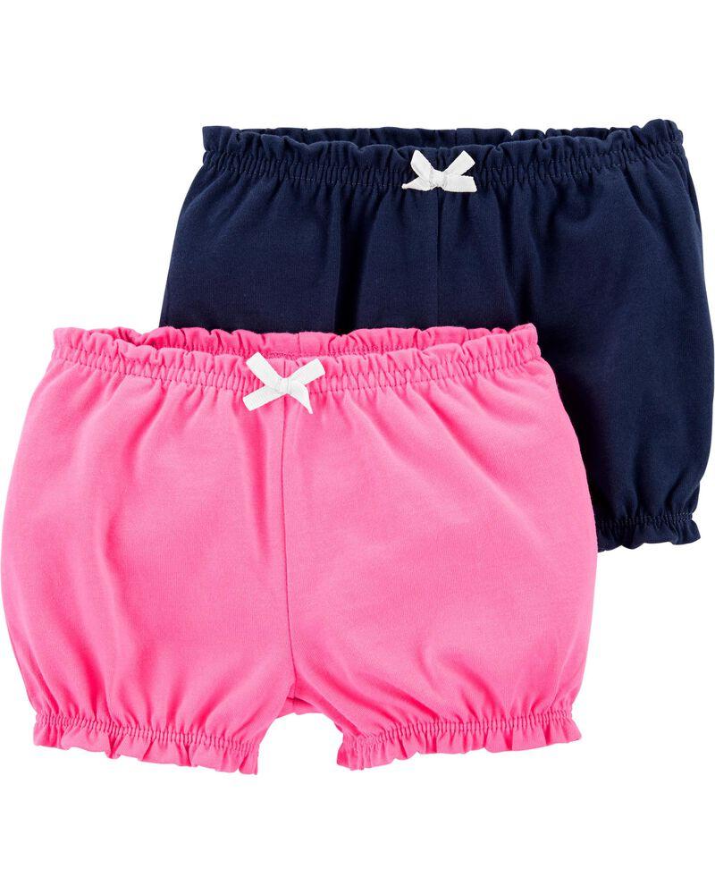 Emballage de 2 shorts en coton, , hi-res
