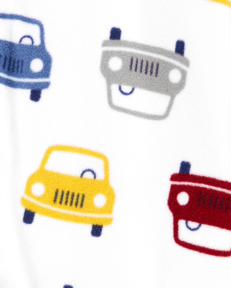 Pyjama 1 pièce en molleton sans pieds à voiture, , hi-res