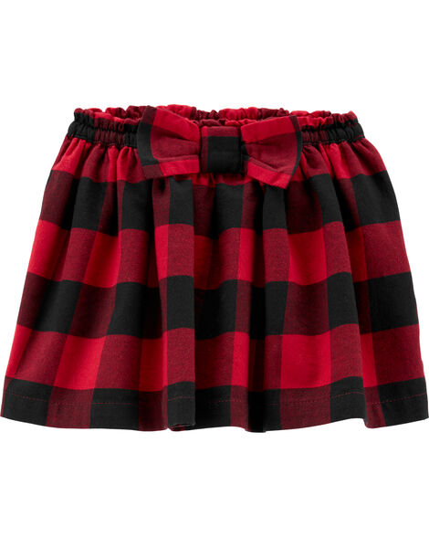 Buffalo Check Twill Skirt