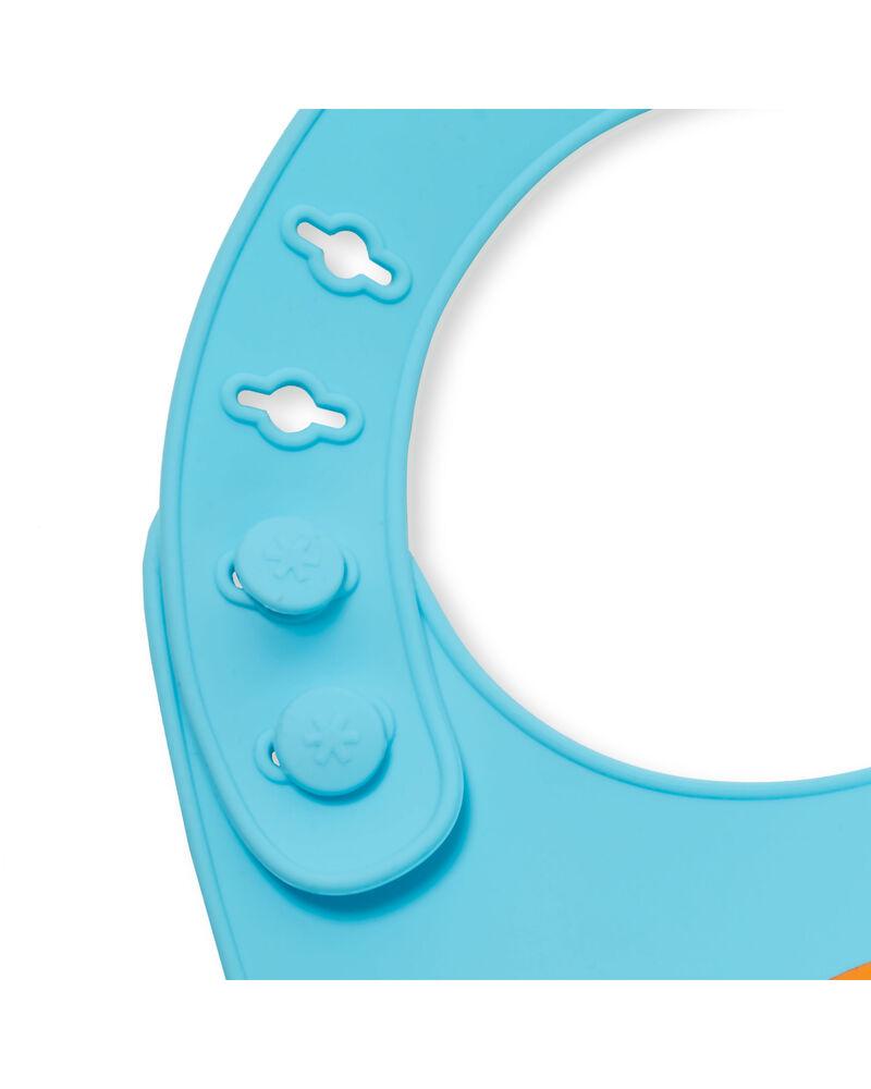 Bavoir en silicone Fold & Go Zoo, , hi-res