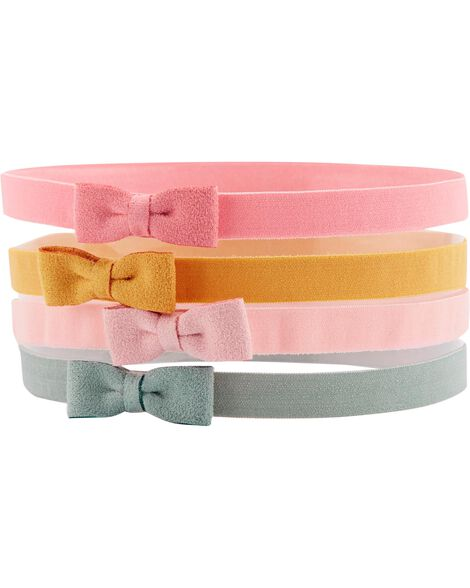 4-Pack Bow Headwraps