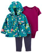 3-Piece Floral Little Cardigan Set, , hi-res