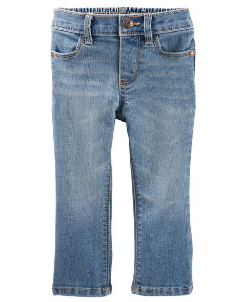Jeans doux botte étroite - bleu Upstate