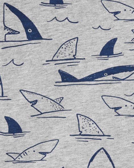Haut henley en jersey à motif requins