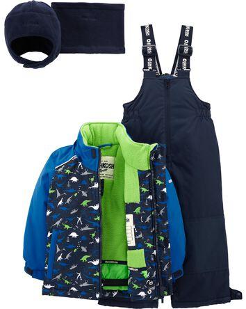 2-Piece Fleece-Lined Snowsuit With...