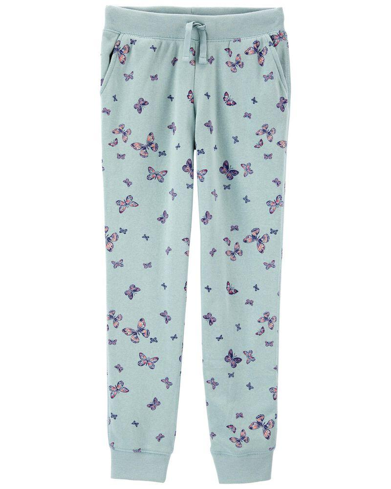 Pantalon en molleton avec logo et papillons , , hi-res