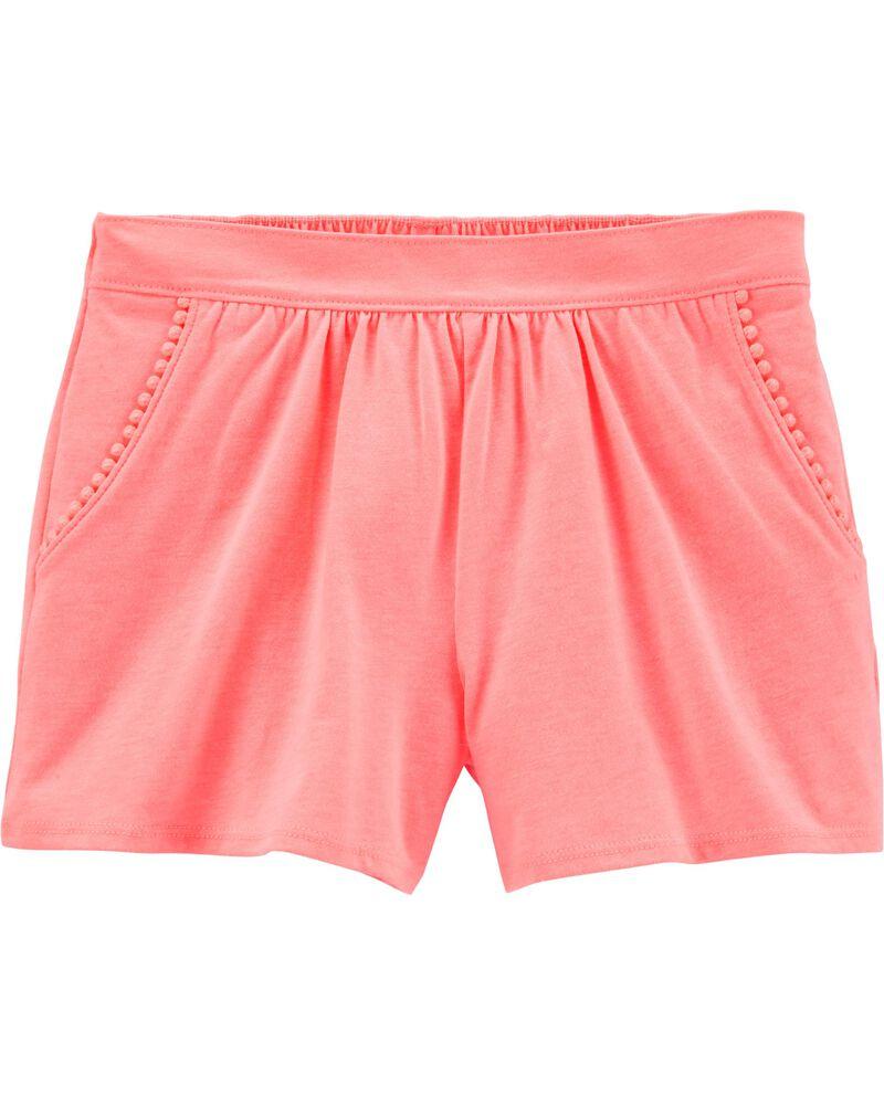 Neon Pom Pom Shorts, , hi-res