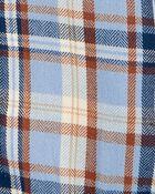 Cache-couche boutonné à motif écossais à chevrons, , hi-res