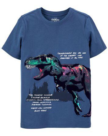T-shirt à imprimé de tyrannosaure