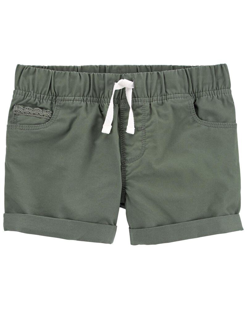 Pull-On Twill Shorts, , hi-res