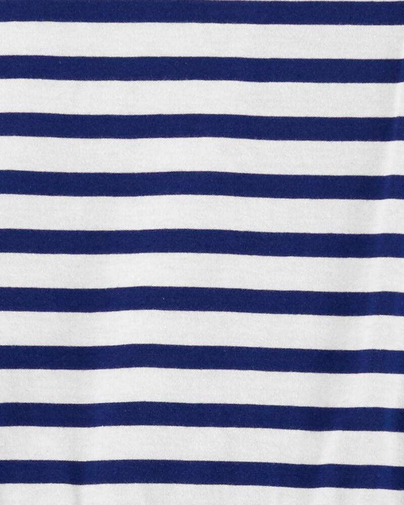 Navy Stripe Dress, , hi-res