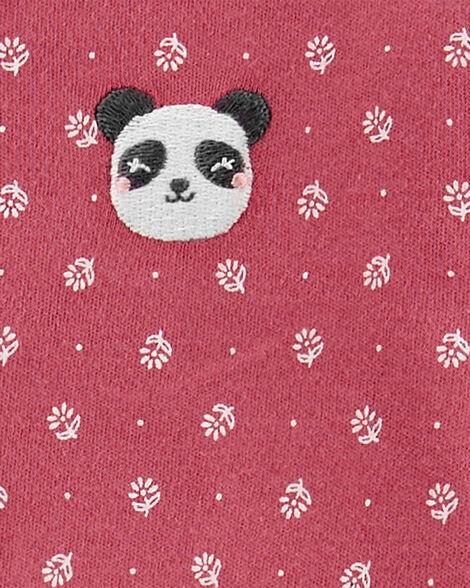 Panda Snap-Up Cotton Sleep & Play